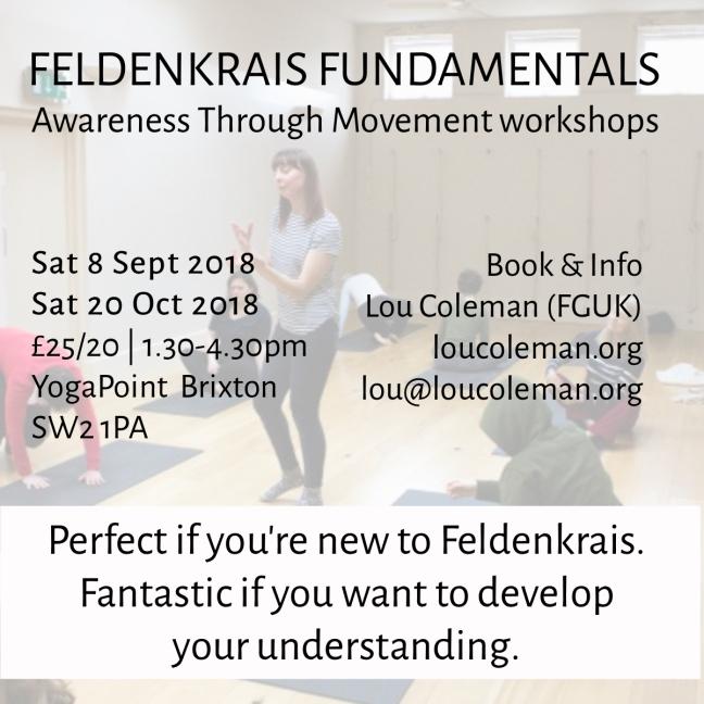 Sept-Oct Feldenkrais workshop